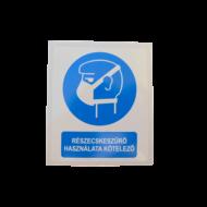 Részecskeszűrő használata kötelező! matrica
