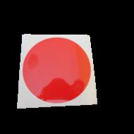 Homlokzati mentési pont- piros matrica