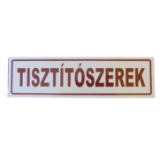 Tisztítószerek matrica 70x250mm