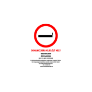 Dohányzásra kijelölt hely matrica A4