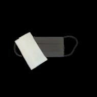 2 rétegű mosható textil szájmaszk - szűrővel - Sötétszürke