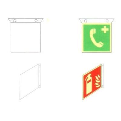 Falra vagy menyezetre szerelhető műanyag tábla 200x200mm