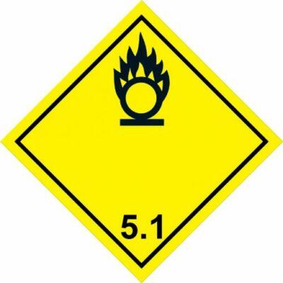 Gyújtóhatású oxidáló anyag - 6.1 - matrica 100x100mm