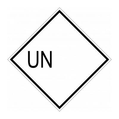 Korlátozott mennyiség - UN - matrica 100x100mm