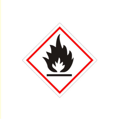 Tűzveszélyes matrica 100x100mm
