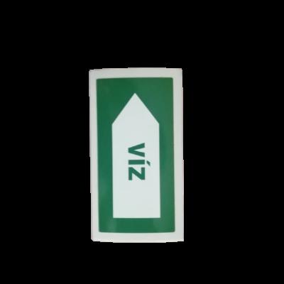 Csővezeték jelölése VÍZ matrica 50x100mm