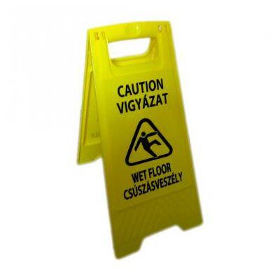 Csúszásveszély figyelmeztető tábla