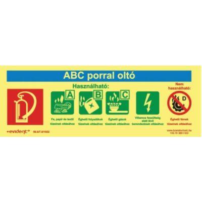 ABC porral oltó utánvilágító tábla