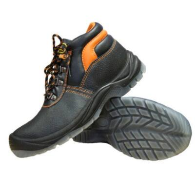 Bőr magasított munkavédelmi cipő