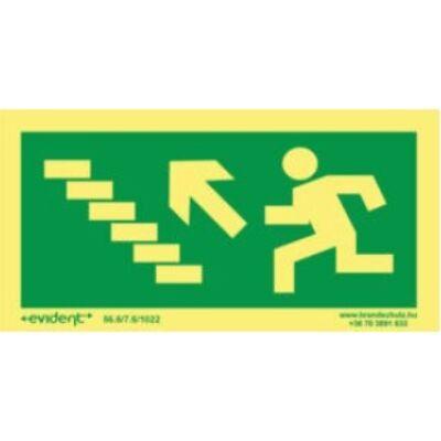Menekülési irány balra fel lépcsőn