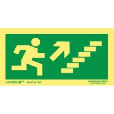 Menekülési irány jobbra fel lépcsőn