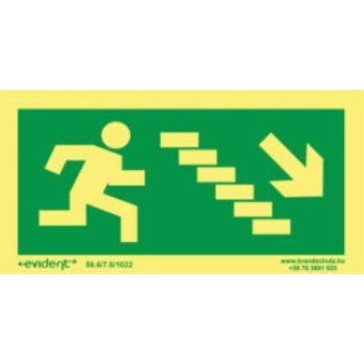 Menekülési irány  jobbra le lépcsőn