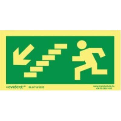 Menekülési irány balra le lépcsőn