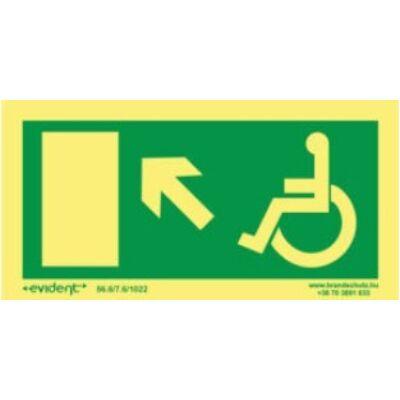 Menekülési irány mozgássérülteknek balra fel