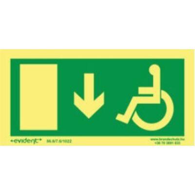 Menekülési irány mozgássérülteknek le