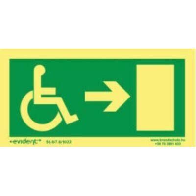 Menekülési irány mozgássérülteknek jobbra