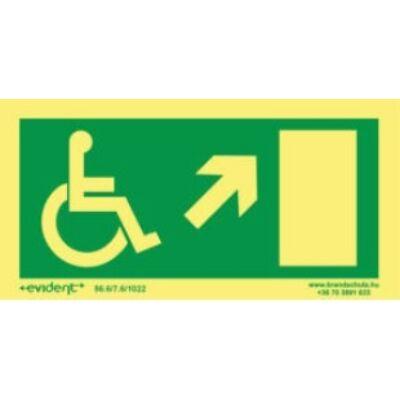 Menekülési irány mozgássérülteknek jobbra fel