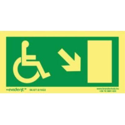 Menekülési irány mozgássérülteknek jobbra le
